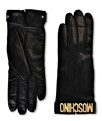 MOSCHINO Leather Gloves 65048 M1686 Black