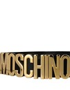 MOSCHINO Smooth Leather Belt Black Gold A8012 8007 555