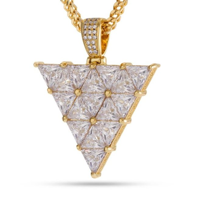 KING ICE 14k Gold Plated Necklace Trinus