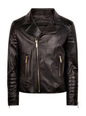 Pellessimo Nappa Leather Biker Jacket Men
