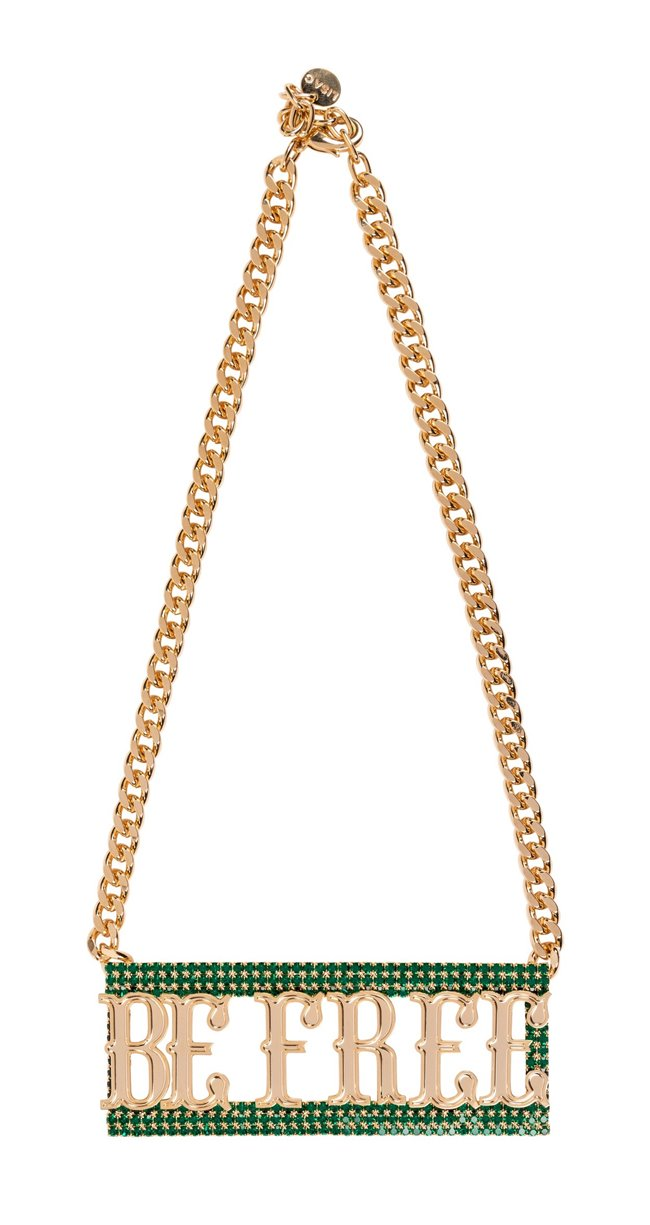 Lisa C 24k Gold Plated Swarovski Be Free Necklace