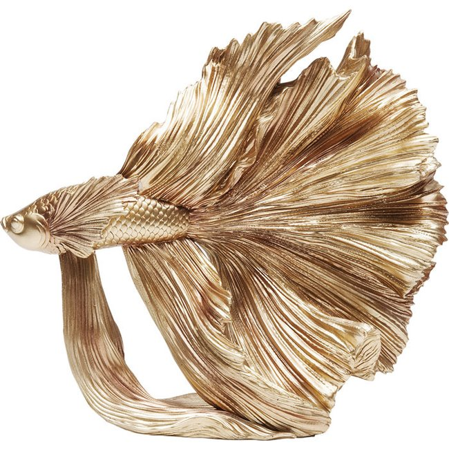 Kare Design Deco Object Betta Fish Gold Small 68023