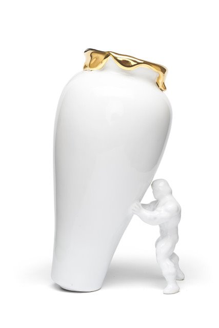 Jasmin Djerzic My Superhero Vase White Gold