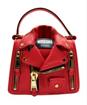 MOSCHINO Biker Handle Bag Red/Gold