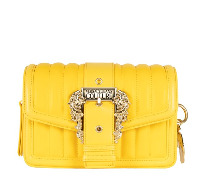 Versace Jeans Buckle Bag Large Quilted Yellow