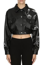 MOSCHINO Leather Bomber Picasso