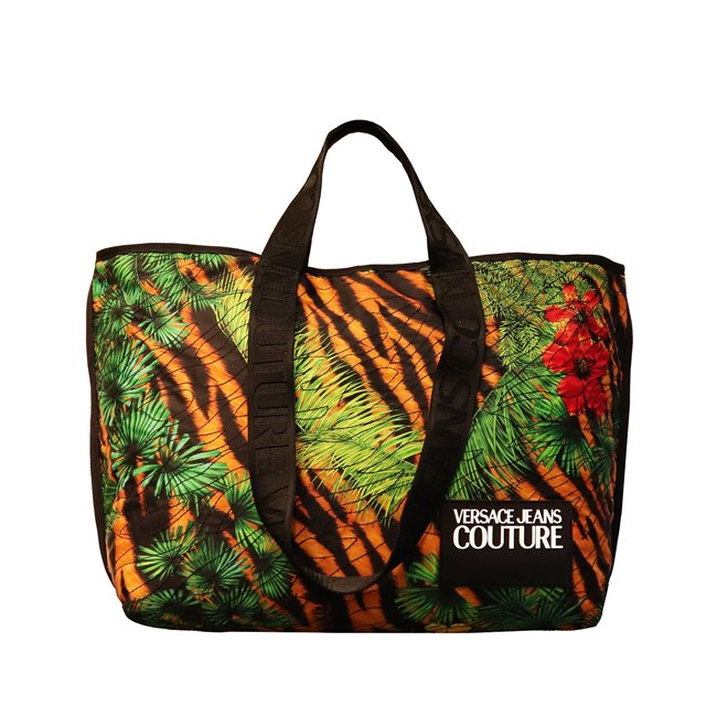 Versace Jeans Tiger Quilted Tote Bag