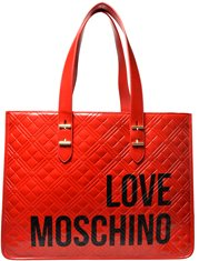 Love Moschino Shopper Checkered Red