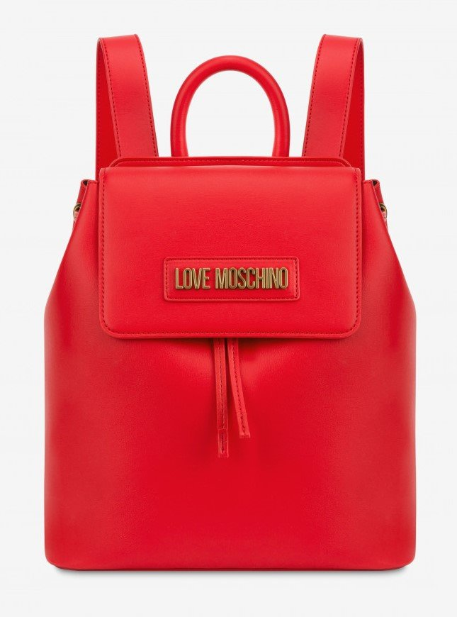 Love Moschino Backpack Smooth Red