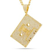 King Ice 14k Gold Plated Death Row Cassette Necklace NKX14242 Small