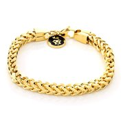 King Ice 14k Gold Plated 6mm Franco Bracelet BRX11781