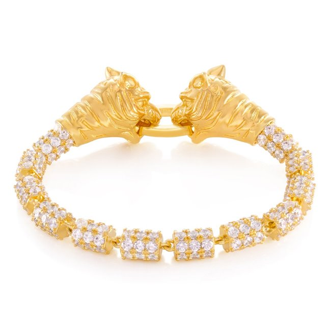 King Ice 14k Gold Plated Pixiu Bracelet BRX12661