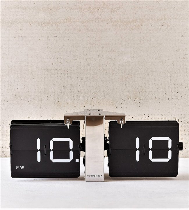 Cloudnola Flipping Out Flipclock Silver