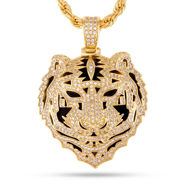 King Ice 14k Gold Plated Snoop Tiger Necklace NKX11464