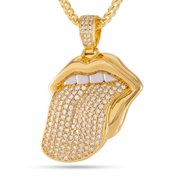 King Ice 14k Gold Plated Desire Necklace NKX12355