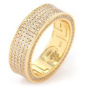 King Ice 14k Gold Plated Infinity Ring RGX 11885