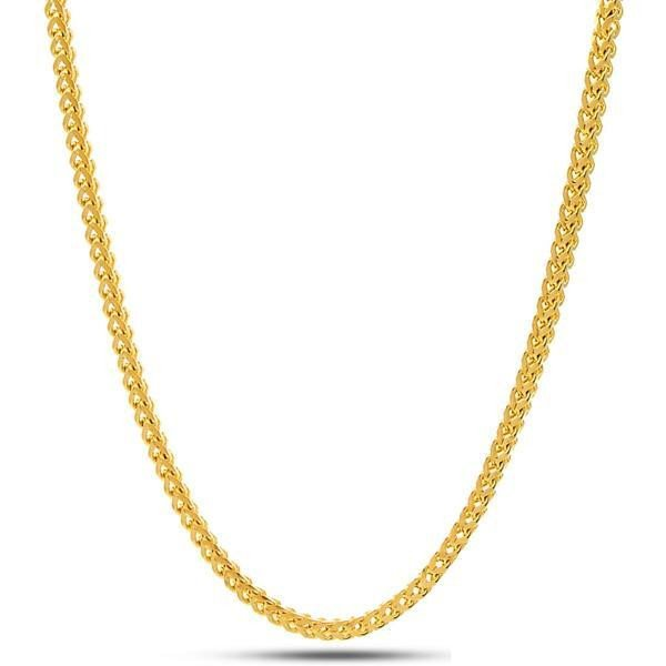 King Ice 14k Gold Plated 2,5mm Franco Chain NKX11776