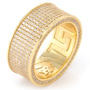 King Ice 14k Gold Plated  Infinity Ring RGX11830