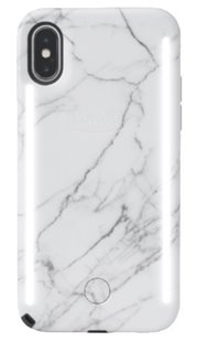 Lumee Duo iPhone 6/6s/7/8/6+/6s+/7+/8+/X Case White Marble