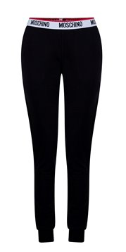 MOSCHINO Women's Trousers Logo Waist Black