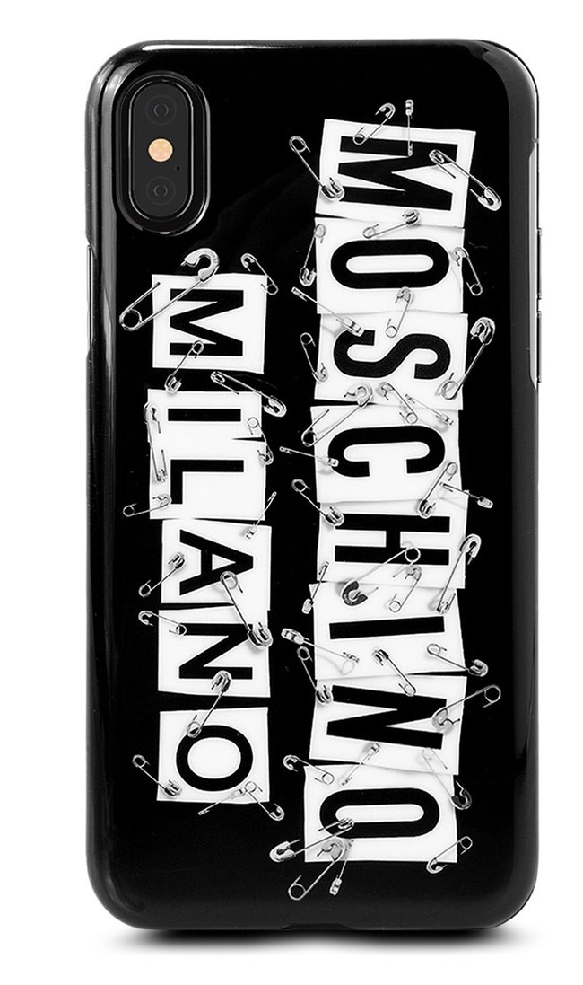 MOSCHINO Logo Pins Iphone X Case