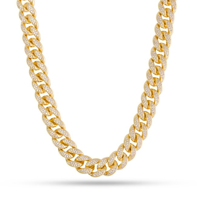 King Ice 14k Gold Plated 8mm Miami Cuban Chain