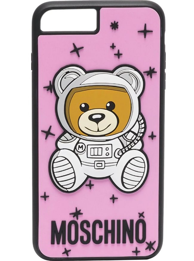MOSCHINO Space Bear Case Pink Iphone 7+/8+