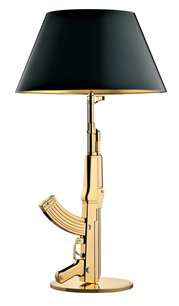 FLOS Table Gun Lamp 18k Gold by Philippe Starck EU 220-230 Volt Version