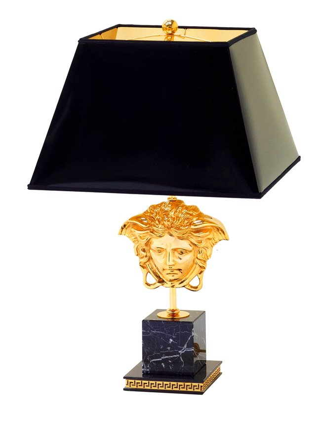 VERSACE Iconic Medusa 24k Gold Plated Lamp