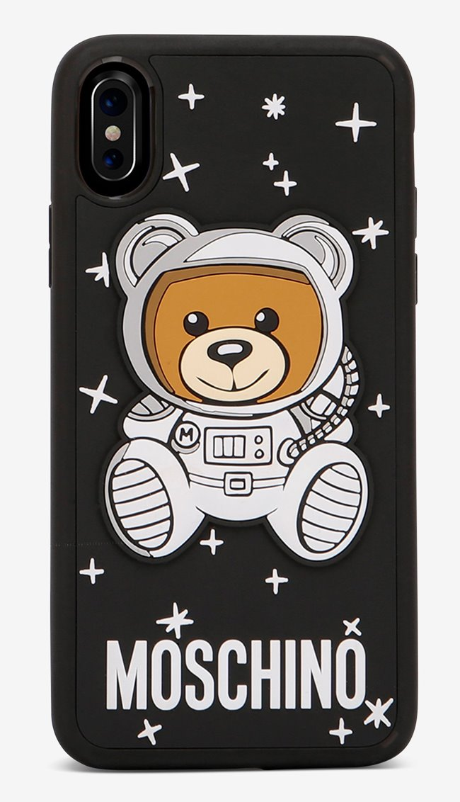 MOSCHINO Space Bear Case Black Iphone X