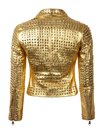 Marpel Italia Chiodo Borchie Nappa Leather Jacket Gold