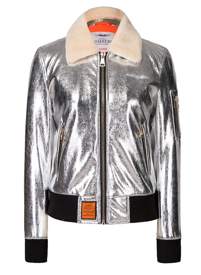 Bombers Alexina Puffer Jacket Silver