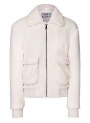 Bombers Lagertha Fleece Jacket White
