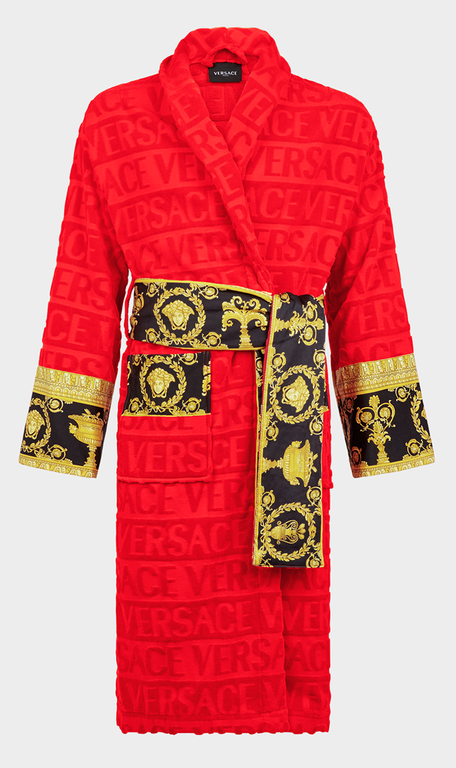 VERSACE I Love Baroque Bathrobe Red
