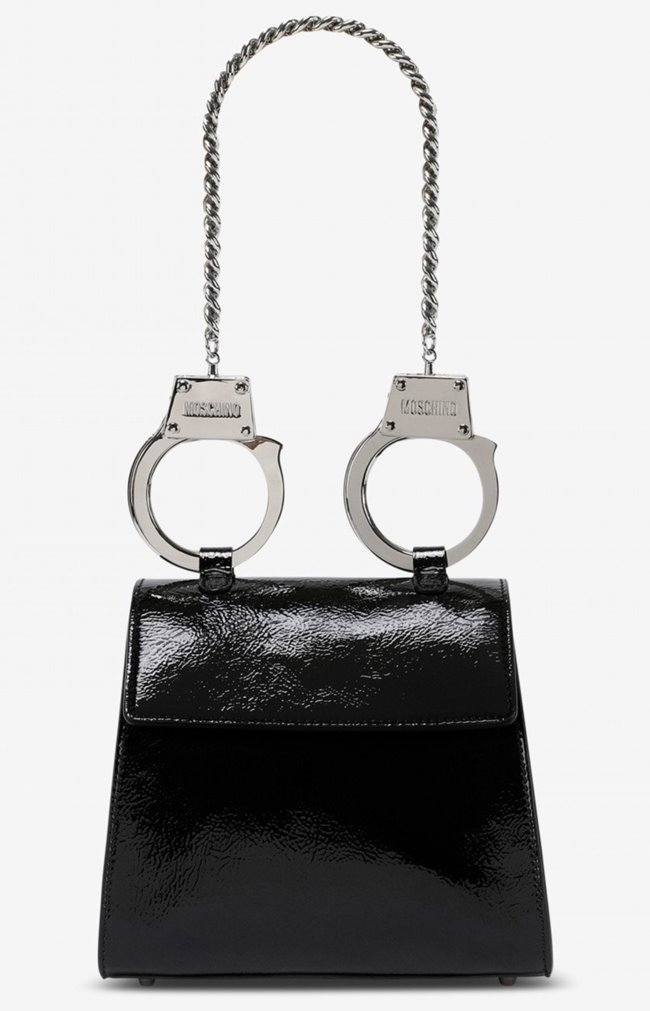 MOSCHINO Handcuffs Bag Black Patent