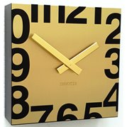 Invotis Clock Square Gold NT04G