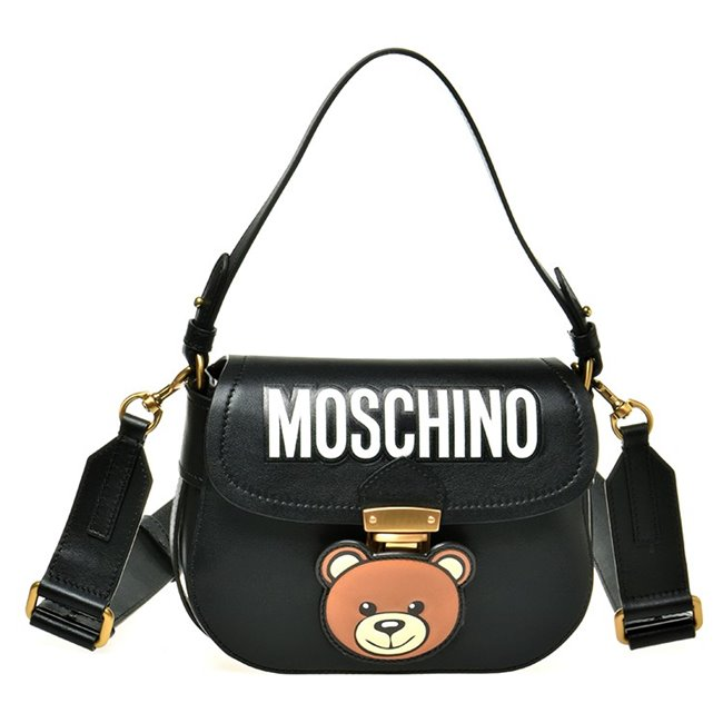 MOSCHINO Bag Bear Face on Gold Clip