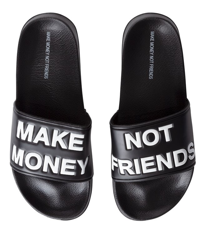 Make Money Slippers MA171001 Black