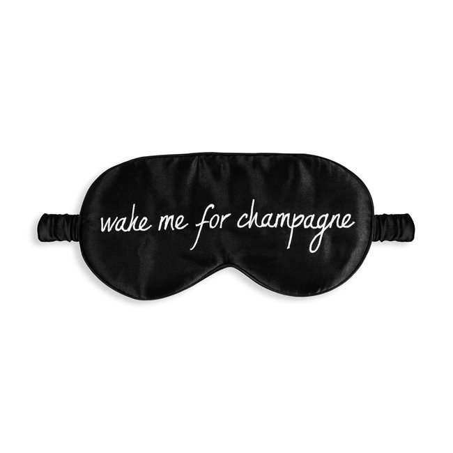 Katie Loxton Satin Mask Wake Me Up Black