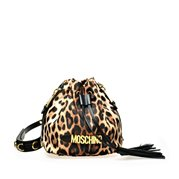 MOSCHINO Bucket Bag Leopard Print