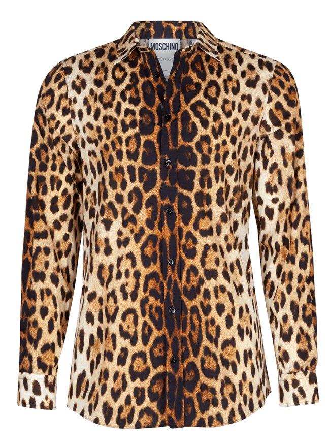 63e409829 Drakesboutique - MOSCHINO Button Shirt Leopard