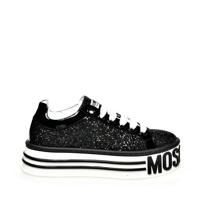 33b576a1079 Drakesboutique - MOSCHINO Platform Shoes Glitter Black