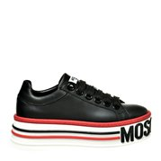 MOSCHINO Platform Shoes Leather Black