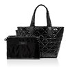 Vee Collective Black Vinyl Small Vee Tote