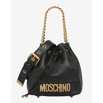 0b32affaa3d MOSCHINO Bucket Bag Leather Black Small