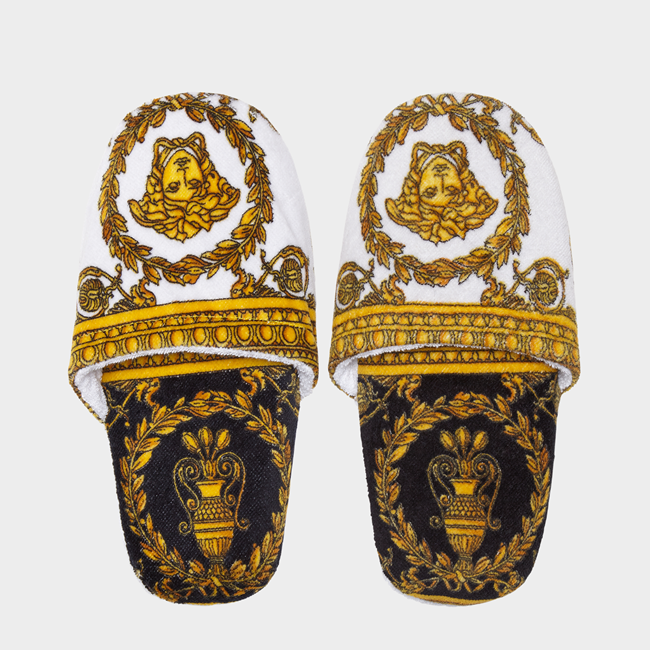 VERSACE I Love Baroque Cotton Slippers