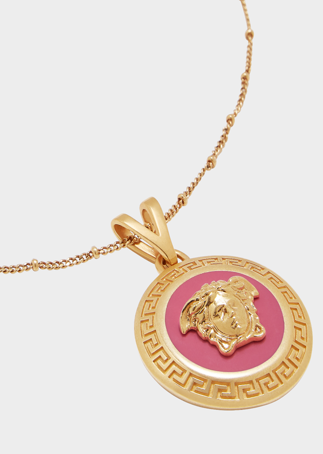 VERSACE Necklace Icon Medusa Pink