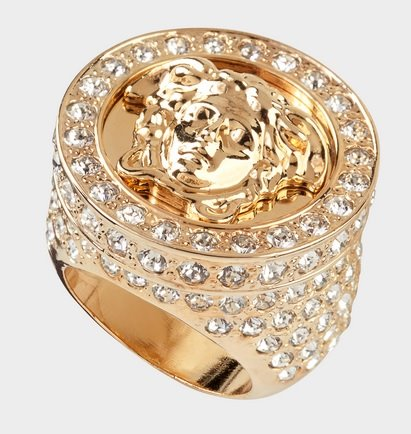 VERSACE Ring All Over Crystal