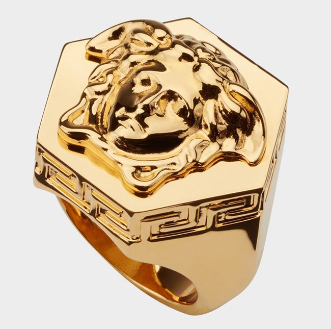 VERSACE Ring Hexagonal Medusa
