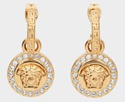 VERSACE Earrings Greca and Medusa Crystals